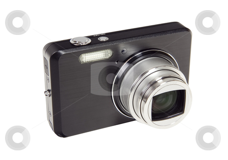 Digital Camera - Photo Object stock photo, Point and shoot digital camera, with clipping path included by Bryan Mullennix