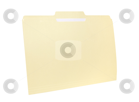 File Folder - Photo Object stock photo, Manila file folder, with clipping path included by Bryan Mullennix