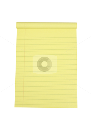 Legal Pad of Paper - Photo Object stock photo, Pad of yellow legal paper, includes clipping path by Bryan Mullennix