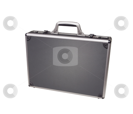 Briefcase - Photo Object stock photo, Aluminum Briefcase by Bryan Mullennix