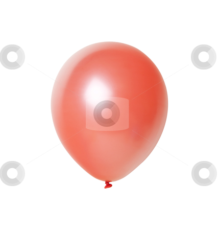 Red Balloon - Photo Object  stock photo, Red balloon, with clipping path included by Bryan Mullennix