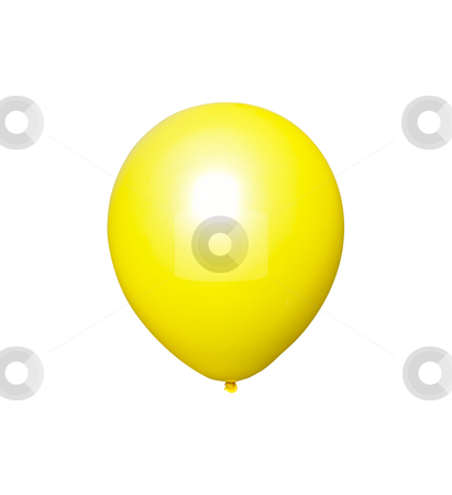 Yellow Balloon - Photo Object stock photo, Yellow balloon, with clipping path included by Bryan Mullennix