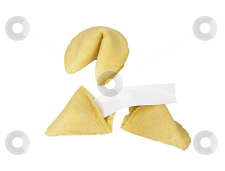 Fortune Cookies - Photo Object stock photo, Chinese fortune cookies, with blank fortune and clipping path included by Bryan Mullennix