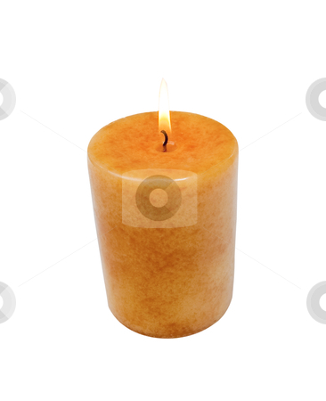 Candle - Photo Object stock photo, Lit candle, includes clipping path by Bryan Mullennix