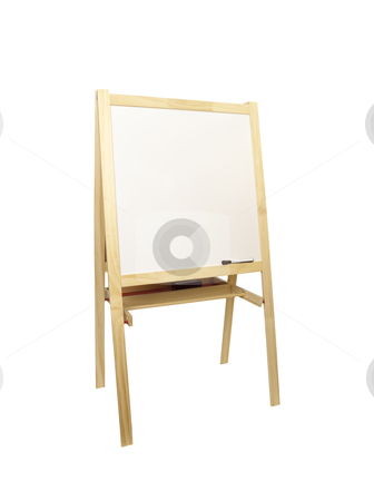 Dry Eraseboard and Easel - Photo Object stock photo, Dry Eraseboard and Easel by Bryan Mullennix