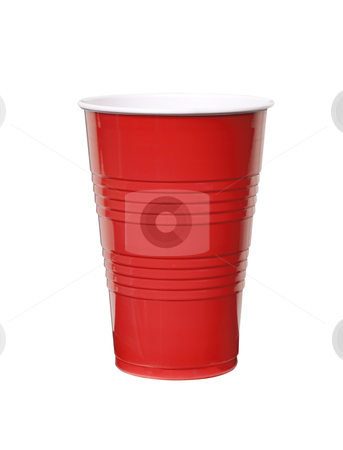 Red Plastic Cup - Photo Object stock photo, Red plastic cup, includes clipping path by Bryan Mullennix