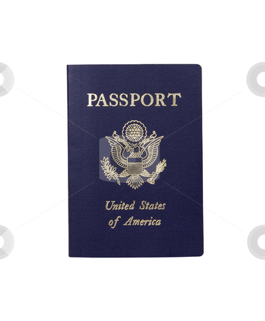 American Passport - Photo Object stock photo, United Stated of America Passport, includes clipping path by Bryan Mullennix