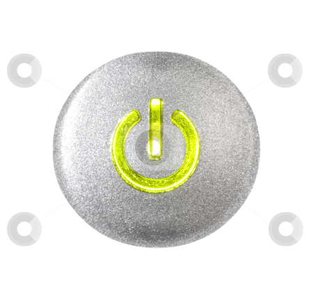 Power Button - Photo Object stock photo, Power button, with clipping path included by Bryan Mullennix