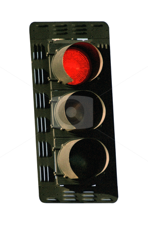 Red Stoplight - Photo Object stock photo, Red traffic light, Cross-Processed, grainy, includes clipping path by Bryan Mullennix