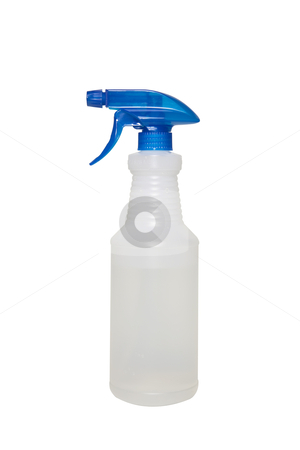 Spray Bottle - Photo Object stock photo, Spray bottle with clipping path by Bryan Mullennix