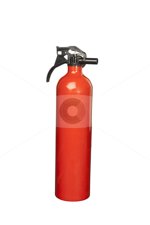 Fire Extinguisher stock photo, Red Fire Extinguisher, includes clipping path by Bryan Mullennix