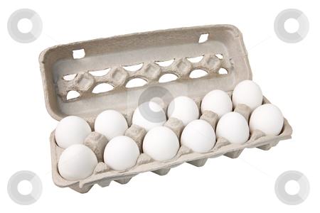 Dozen Eggs stock photo, Carton of eggs, includes clipping path by Bryan Mullennix