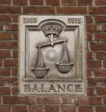 Balance mural stock photo, Balance mural by Claudine Van Massenhove