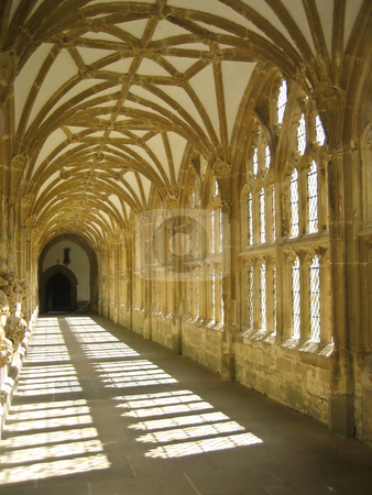 Royal gallery stock photo, Building interior - detail of a 400 years old English castle - Cornwall reagion by Perseomedusa