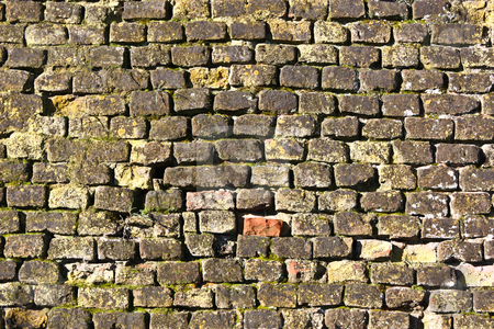 Medieval wall - Italy stock photo, Background, medieval wall in Verrua Savoia, Italy - 800 years old by Perseomedusa