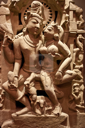 Uma-Maheshvara stock photo, Nort-Central India, XI century A.D., Sandstone by Perseomedusa
