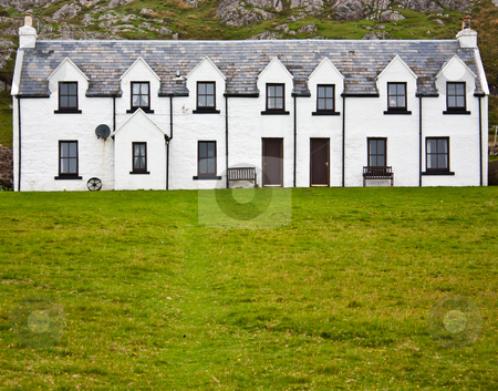 Country house - Scotland stock photo, Country house in Higlands, Scotland, with copy space by Perseomedusa