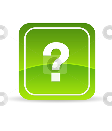 Green Question Mark Icon stock photo, High resolution green question mark icon on white background. by kbuntu