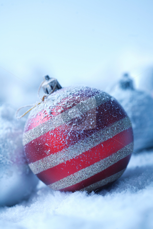 Christmas ornament on  blured background stock photo, Christmas ornament on  blured background by Roman Shyshak