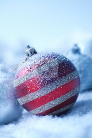 Christmas ornament on  blured background stock photo, Christmas ornament on  blured background by Roman Shyshak