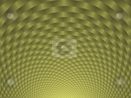 Circles upon Circles stock photo, Digitally generated image with a geometric woven circular design in yellow and green. by Colin Forrest