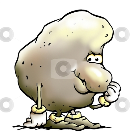 Potato Mascot stock photo, Potato Mascot by DrawShop - Poul Carlsen