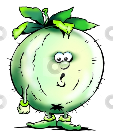 Gooseberries Mascot  stock photo, Gooseberries Mascot  by DrawShop - Poul Carlsen