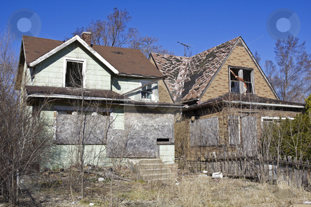 Abandoned houses in Gary stock photo, Abandoned houses in Gary, Indiana. by Henryk Sadura