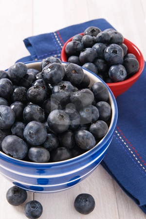 Fresh Ripe Blueberries stock photo, Fresh blueberries are a good source of nutrients and antioxidants and are a tasty snack or dessert. by Karen Sarraga