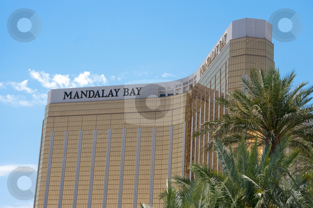 Mandalay Bay Hotel stock photo, May 25th, 2009 - Las Vegas, Nevada, USA  The facade or front of the Mandalay Bay Hotel and Casino on Las Vegas Boulevard by Kevin Tietz