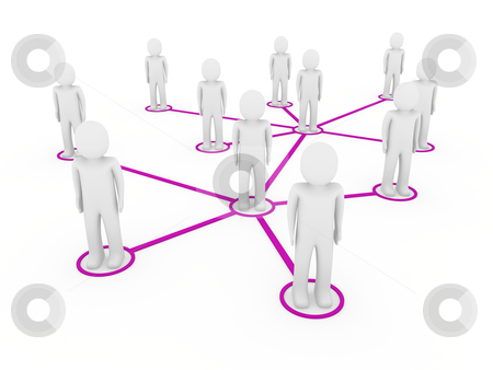 3d men network social purple stock photo, 3d men network social purple people connection teamwork by d3images