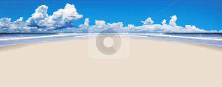 Tropical beach with open space for text stock photo, Tropical beach with open space for text by tish1