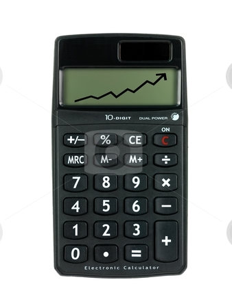 Calculator stock photo, A calculator isolated against a white background by Kitch Bain