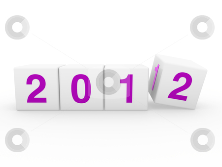 New year cube  2012 purple stock photo, 2011 2012 happy new year purple 3d cube by d3images