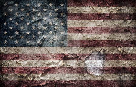 American flag. stock photo, Shabby american flag background by Oleksiy Fedorov