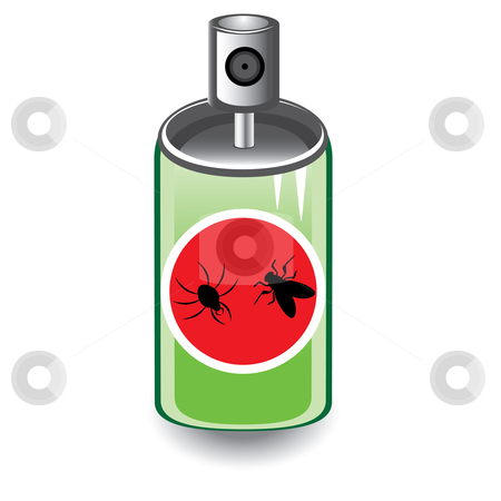 Insect spray stock photo, Insect spray. Illustration on white background  by dvarg