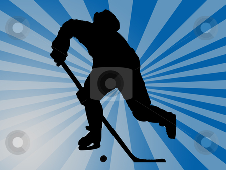 Ice hockey stock photo, hockey player by Minka Ruskova-Stefanova