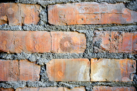 Brick wall stock photo, Grunge stile of brick wall by Pavel Vorobyov