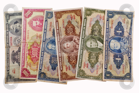 Old brazilian money stock photo, Old Brazilian money in paper. by marphotography