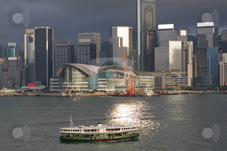 Hong Kong harbour stock photo, Hong Kong harbour by Keng po Leung