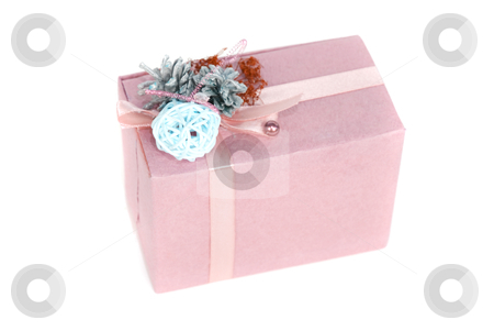 Gift box stock photo, gift box isolated on a white background by olinchuk