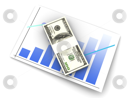 Financial analysis stock photo, Analyzing the financial situation. 3D rendered illustration. Isolated on white. by Michael Osterrieder