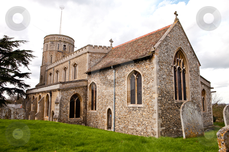 Swaffham prior church stock photo, old english village church by trgowanlock