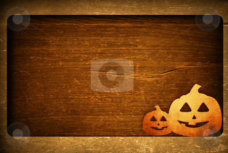 Halloween  stock photo, Halloween pumpkins with pumpkin friends by ilolab