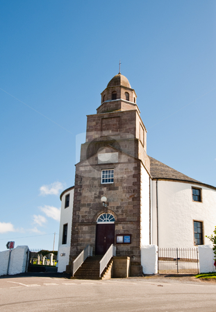 Round church stock photo, Round church on isle of Islay by Jaime Pharr