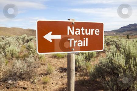Nature Trail Sign in Remote Area stock photo, Nature Trail Sign in Remote Area, Oregon by Bryan Mullennix