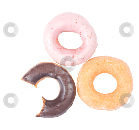 Colorful and delicious donut stock photo, Colorful and delicious donut isolated on white background by Lawren