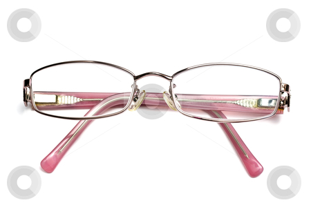 Lady&amp;#039;s reading glasses stock photo, Lady&#039;s reading glasses isolated on white background by Ingvar Bjork