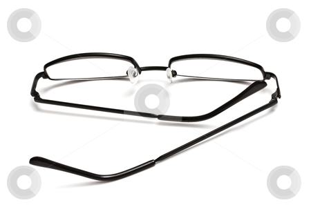 Reading glasses  stock photo, Reading glasses isolated on white background   by Ingvar Bjork