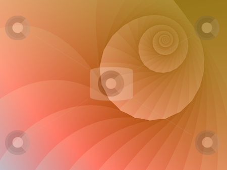 Spiral Tunnel stock photo, Digitally generated fractal image with a  spiral design in orange and pink. by Colin Forrest